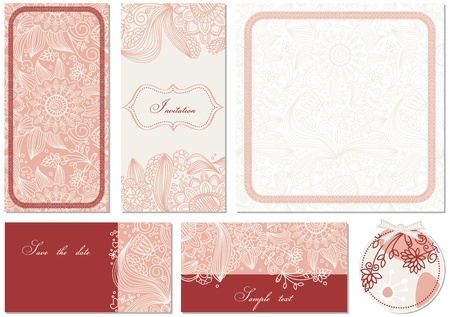 stationary set: Stylish floral cards