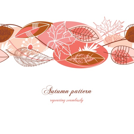 Autumn background (seamless pattern)  Vector
