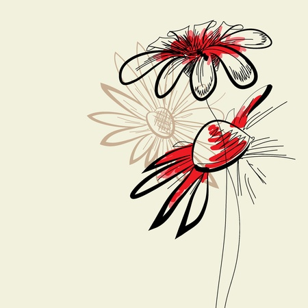 Artistic flowers  Vector