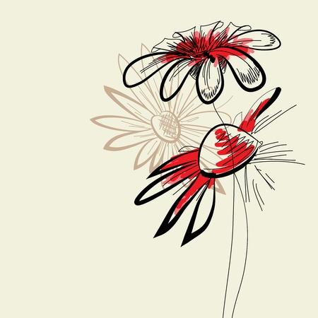 whimsy: Artistic flowers  Illustration