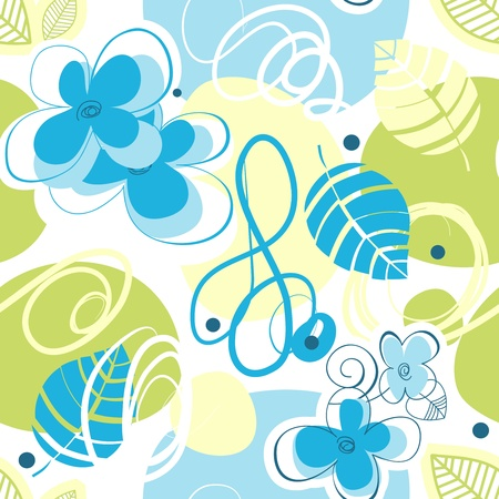 whimsy: Floral seamless pattern