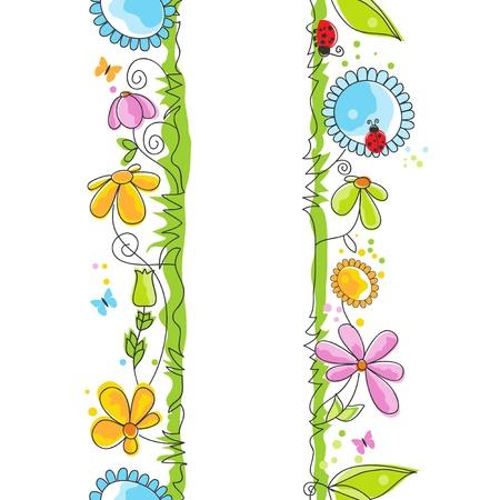 catarina caricatura: Lindos bordes florales