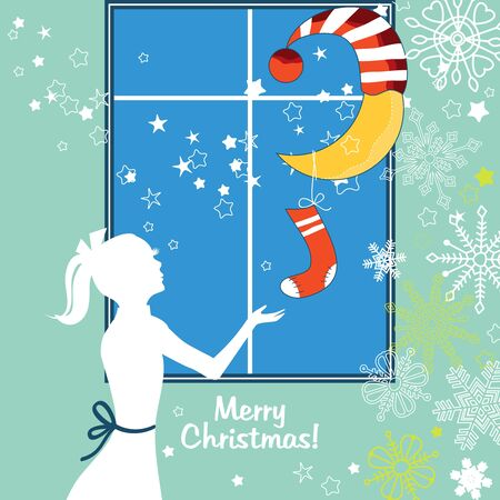 Children Christmas Vector
