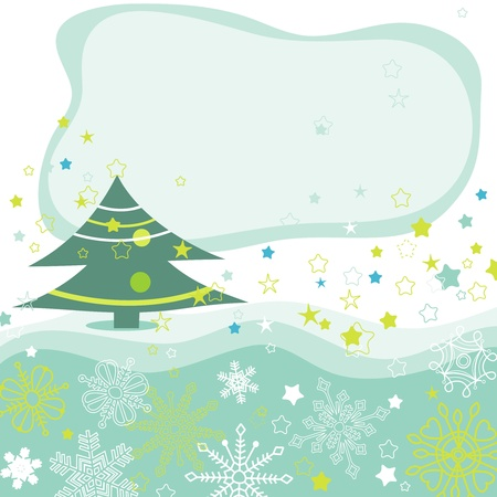 new year border: Christmas tree vector background  Illustration