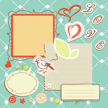 Retro note papers  Vector