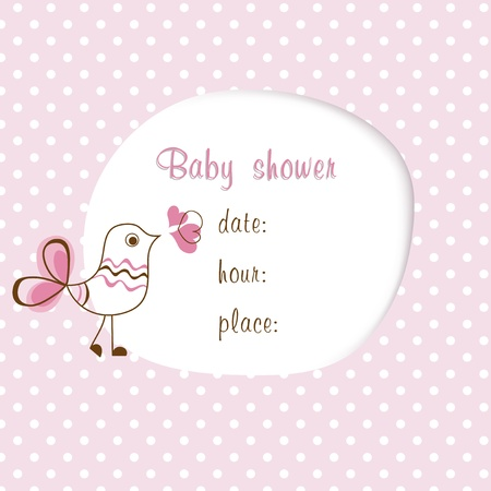 cute baby girls: Baby girl shower  Illustration