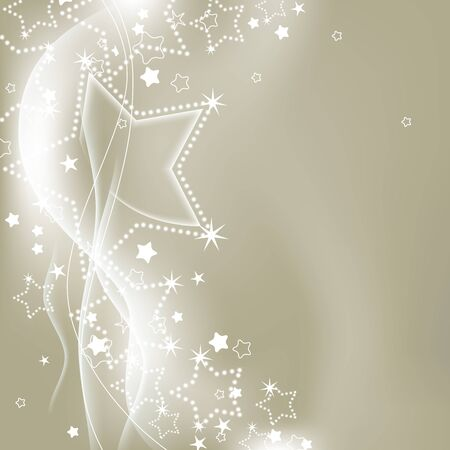 Christmas silver lights background Stock Vector - 10552205