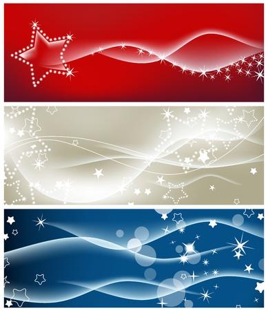 red swirl: Onde luminose e scintillanti stelle sfondi  Vettoriali