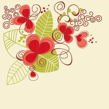 flores: Retro floral background