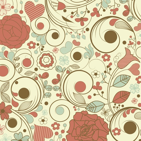 Vintage floral pattern Stock Vector - 10552200