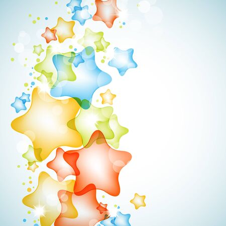 Colorful shiny stars vector background  Stock Vector - 10623864