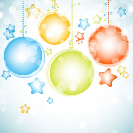 suspended: Shiny Christmas vector background