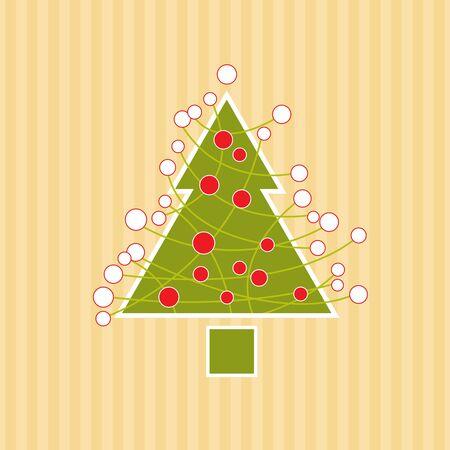 retro christmas tree vector - Retro Christmas Tree