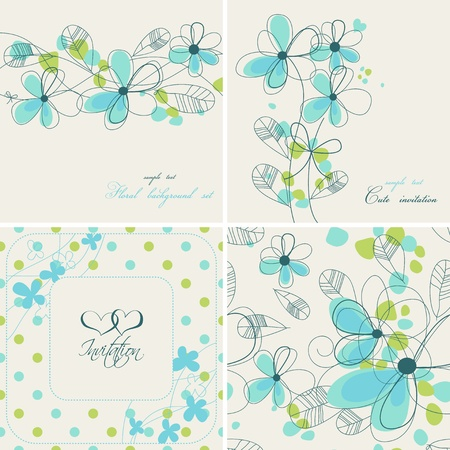 teal background: Cute floral backgrounds