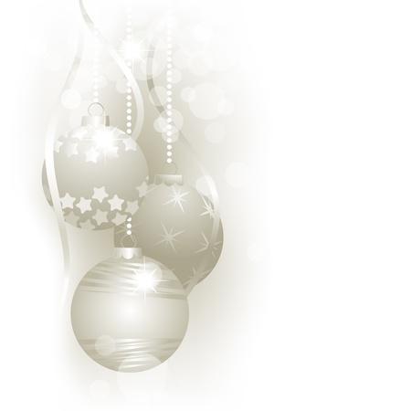 Christmas silver balls Stock Vector - 10702812