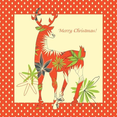 Christmas deer Stock Vector - 10864902