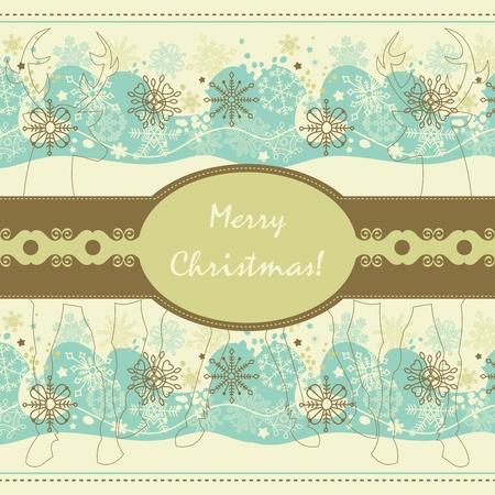 decorate element: Vintage Christmas card