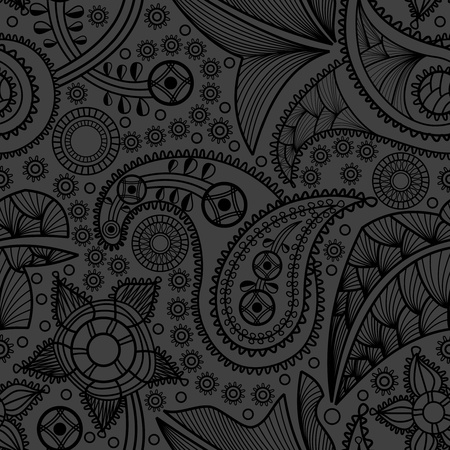 Paisley black pattern Vector