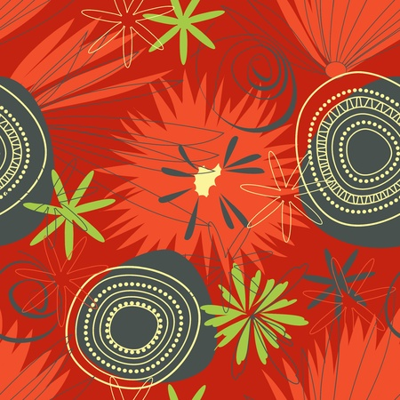 Seamless pattern in african colors Vector