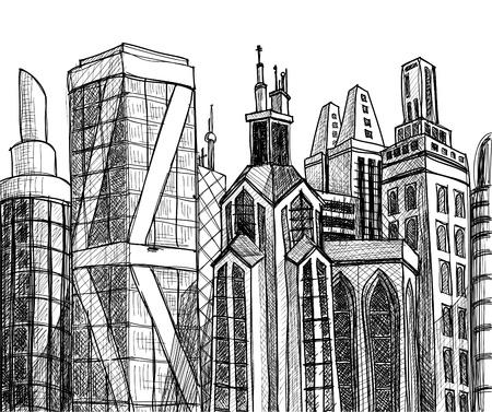Urban buildings  Stock Vector - 10996424