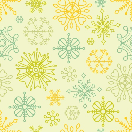 whimsical: Snowflakes seamless pattern