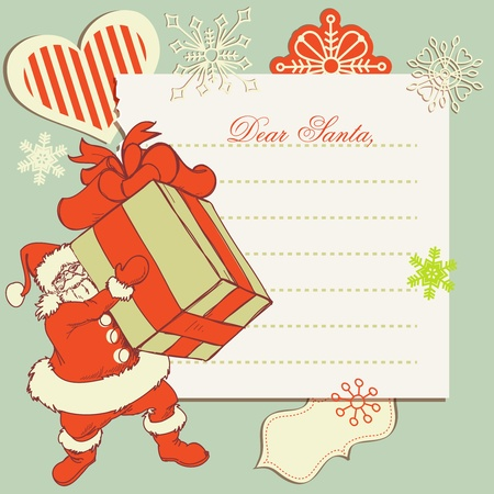 letter from santa: A letter to Santa Claus  Illustration