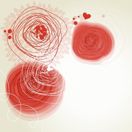 Romantic flowers background  Vector