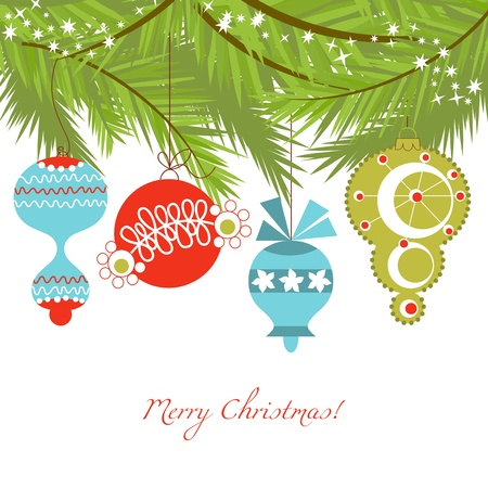 Christmas ornaments vector background  Vector