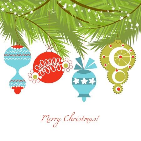 ornaments vector: Natale ornamenti vettore sfondo Vettoriali