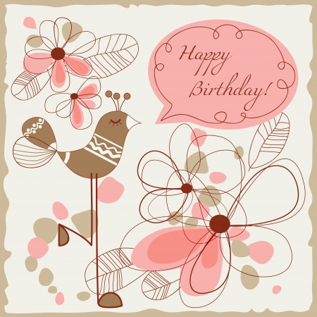 Happy birthday card for children Vector