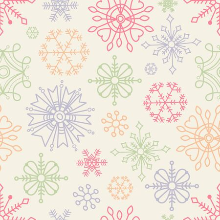 Christmas seamless pattern in boho style  Vector