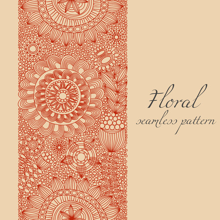 Romantic floral seamless pattern  Vector