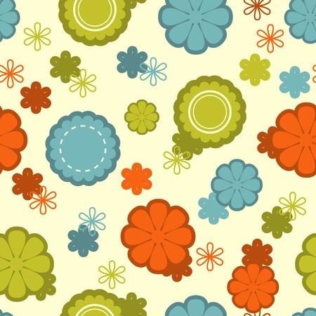 floral pattern motif: Floral seamless pattern