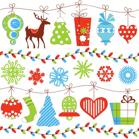 renos de navidad: Navidad sin patrón Vectores