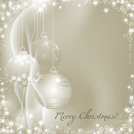 festive season: Silver Christmas background