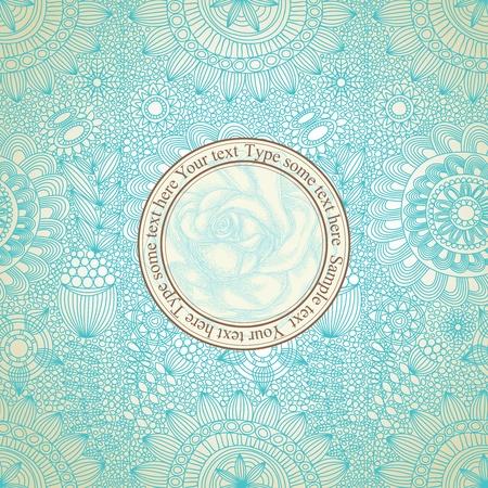 papel tapiz turquesa: Vintage floral patr�n transparente