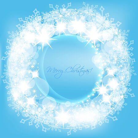 Christmas round frame  Vector
