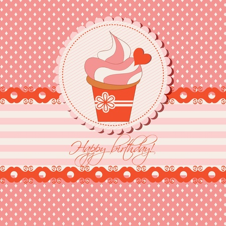 Birthday cupcake  Stock Vector - 11275395