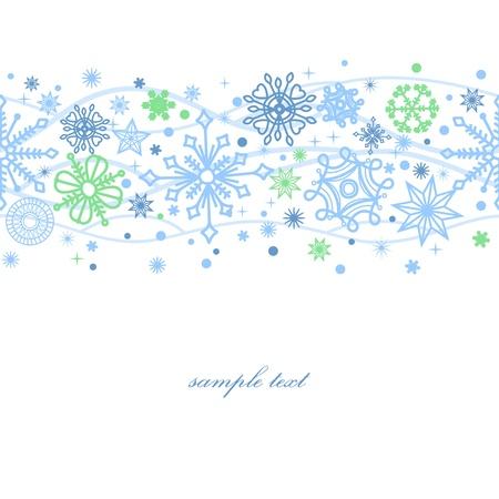 Snowflakes seamless pattern over white