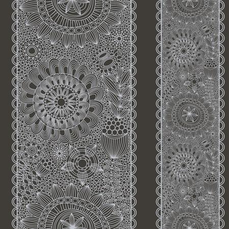Lace seamless pattern  Illustration