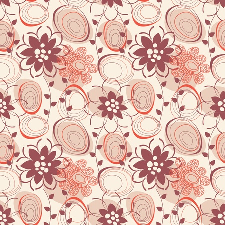 illustrated: Retro seamless pattern