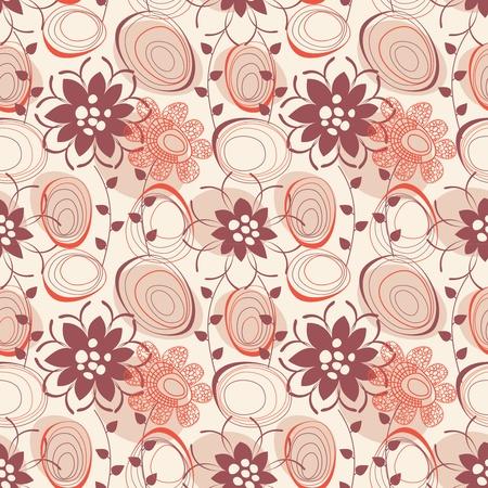 illustrated: Retro seamless pattern