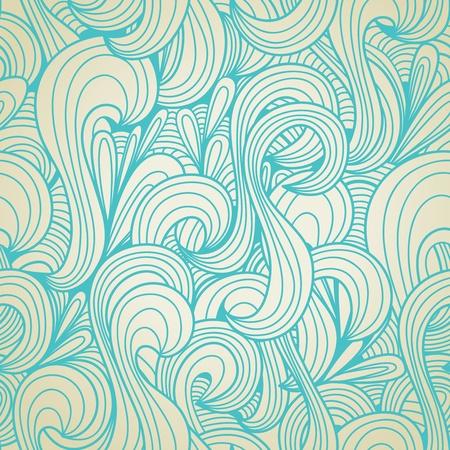 Retro swirls seamless wallpaper  Illustration