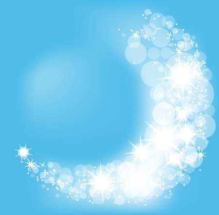 silver stars: Christmas vector background, snowflakes light beam