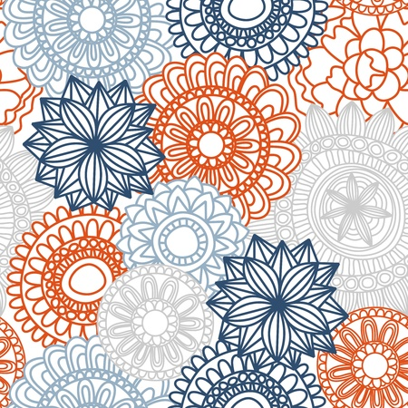 wallflower: Floral seamless pattern