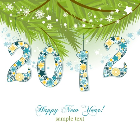 pinetree: New year 2012 background