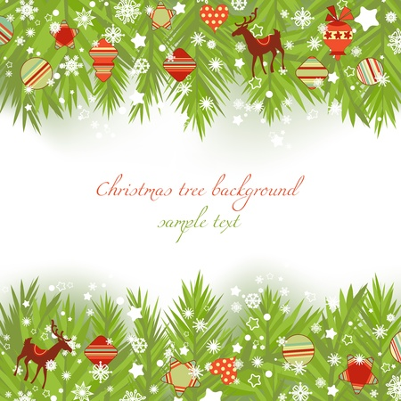 Christmas tree borders vector illustration  Vector