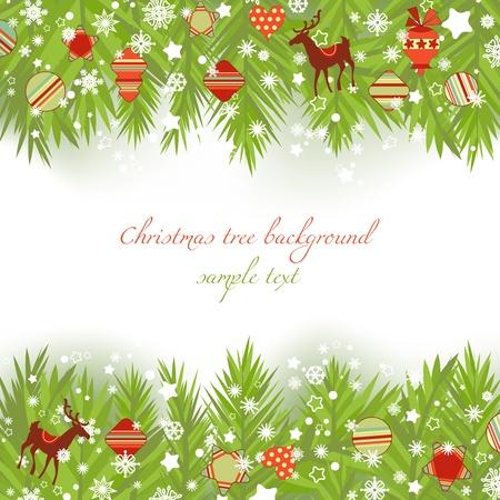 Christmas tree borders vector illustration  Vector