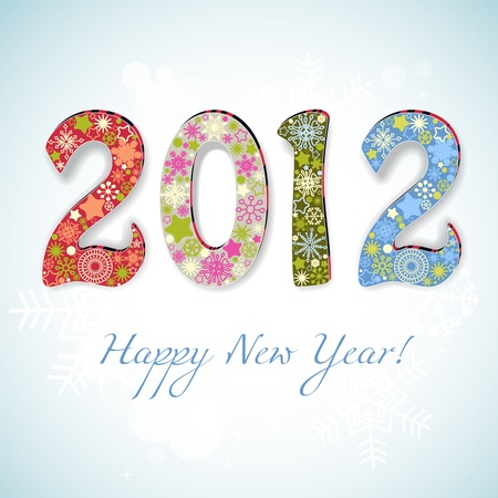 New year 2012 number vector illustration  Stock Vector - 11377023