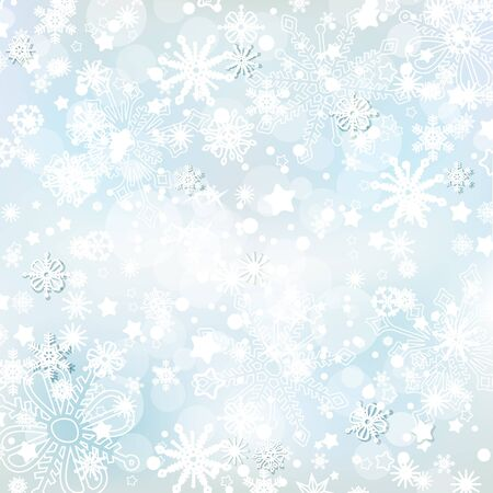 Frosty winter background, snowflakes and lights suitable for brochures, greeting cards or flyers on Christmas theme vector illustration  Vector